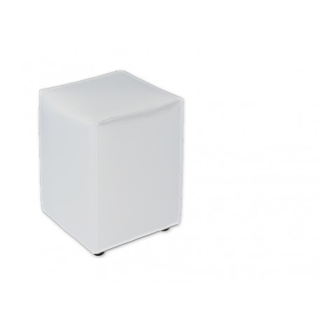 Pouf en cuir blanc 40*31*31 cm