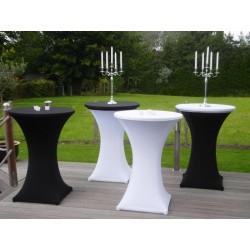 Table mange debout + nappage (blanc ou noir)