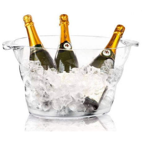 Vasque à champagne transparente 47/29/23cm
